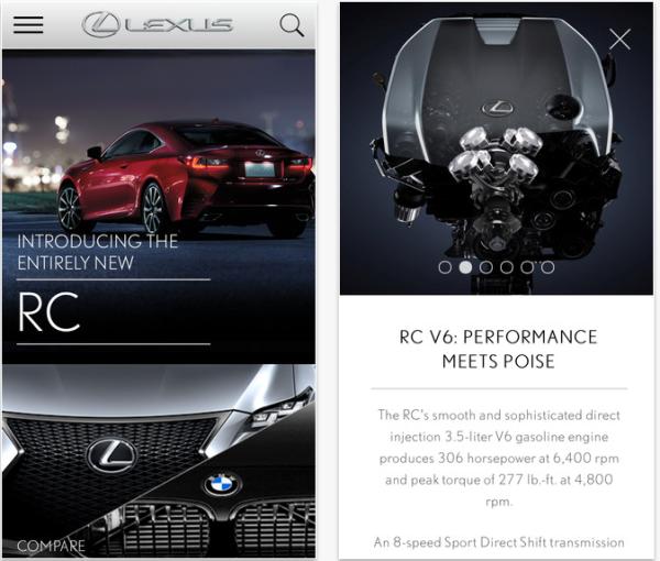 2015 Lexus RC app