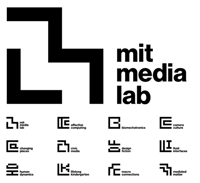 MIT media lab logo glyphs